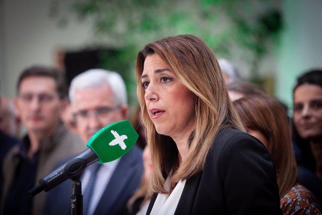 En Sevilla, la secretaria general del PSOE-A, Susana Díaz, participa en la reuni