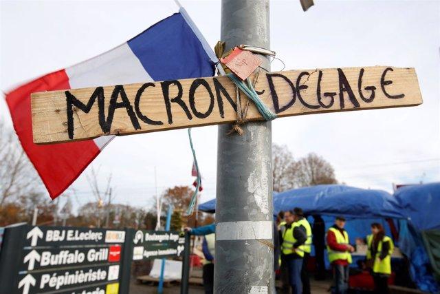 Protesta de los 'chalecos amarillos' contra Emmanuel Macron