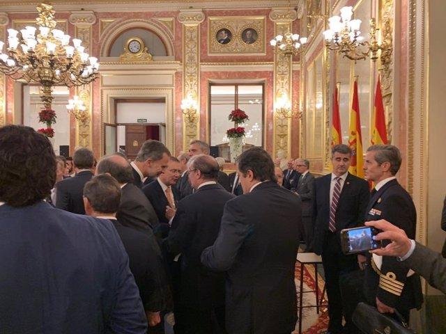 Lambán en el Congreso en el XL Aniversario de la Constitución
