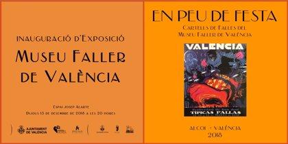 Una muestra en el Museo Fallero exhibirá 20 carteles de Fallas de 1930 a 1990, algunos restaurados