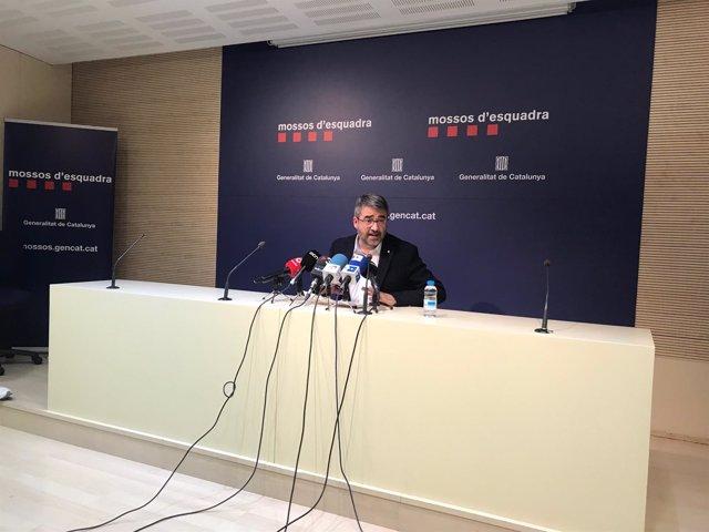 El director de los Mossos d'Esquadra, Andreu Martínez