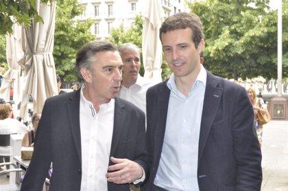 Casado (PP) apoyará a Beamonte en su presentación como candidato a la Presidencia de Aragón, en Teruel este viernes