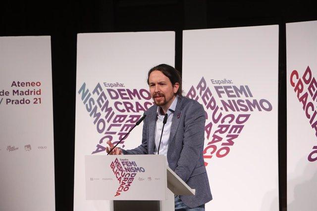 Iglesias, participa en las jornadas 'España: Feminismo, República y Democracia'