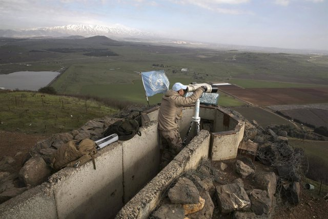 Efectivo de la FINUL en los Altos del Golán