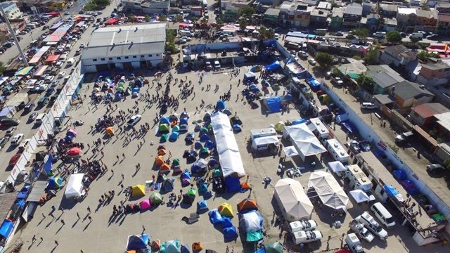 Migrantes centroameircanos Tijuana