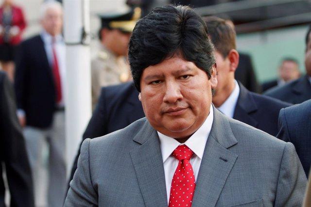 El presidente de la Federación Peruana de Fútbol, Edwin Oviedo.