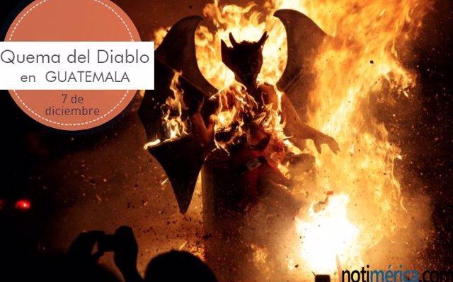 7 de diciembre: la Quema del Diablo en Guatemala ¿por qué se celebra hoy?