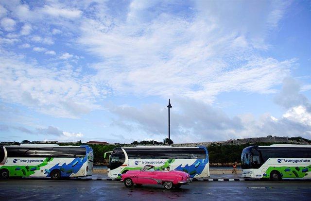Autobuses de Gaviota en Cuba.
