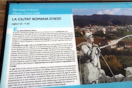 Isona vol tornar a posar en valor les restes de la ciutat romana d'Aeso i que es converteixin en un reclam turístic