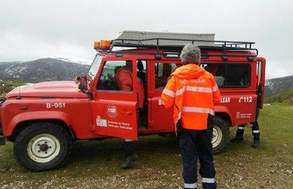 Rescatados ilesos un padre y dos hijos en el barranco de Zologorri