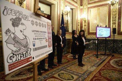 El Congreso acoge un sorteo de Lotería con motivo del aniversario de la Constitución