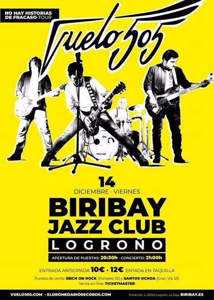 """Vuelo 505 recala el 14 de diciembre en el Biribay Jazz Club para """"premiar"""" a su público con el concierto más largo"""