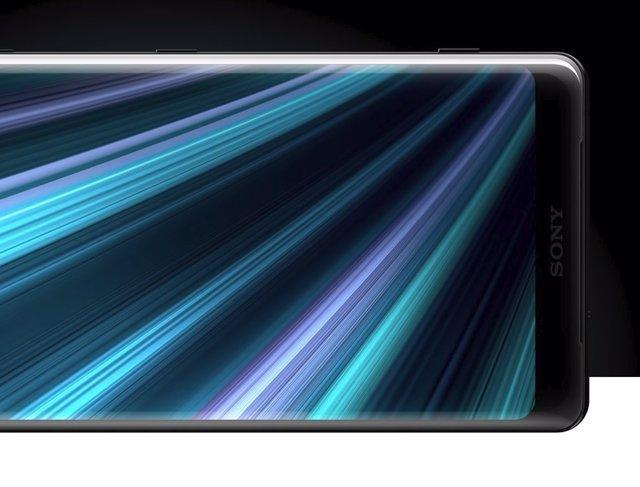 Logo Sony en smartphone