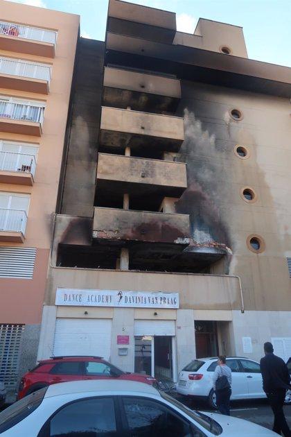 El inmueble afectado por el incendio en Ibiza no ha sufrido daños estructurales