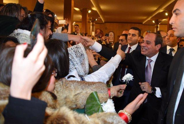 Abdelfatá al Sisi celebra la Navidad en la nueva capital administrativa egipcia