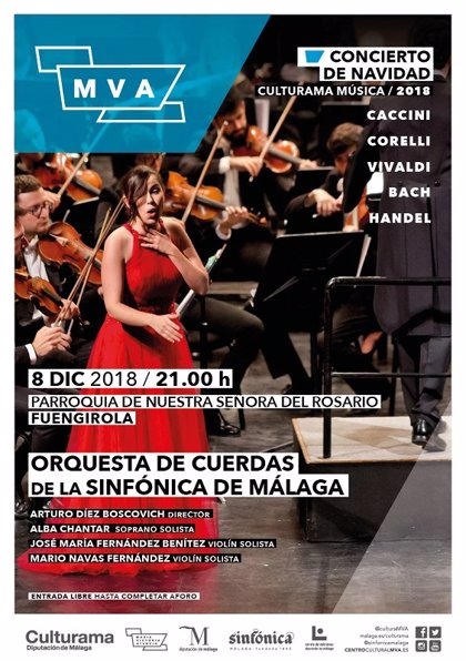 El centro MVA continúa su programación clásica durante este fin de semana con conciertos por toda Málaga