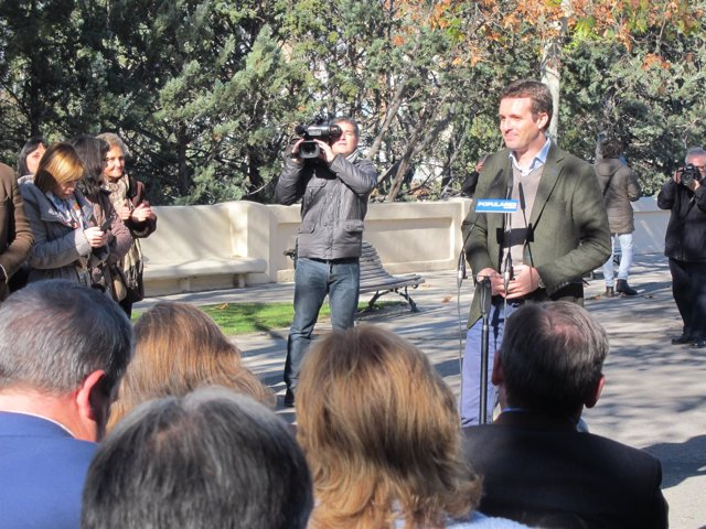 Casado ha presentado a los candidatos del PP Aragón.
