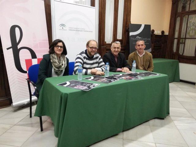 Presentación del festival 'NueBo' en Bonares.