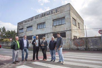 Camargo quiere crear un espacio de ocio y cultura en antiguas naves de Recuperaciones Submarinos