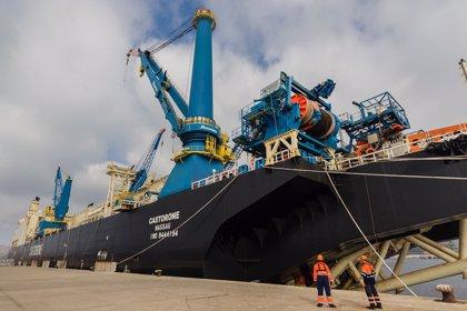 El buque 'CastorOne' permanecerá atracado en Cartagena hasta marzo de 2019