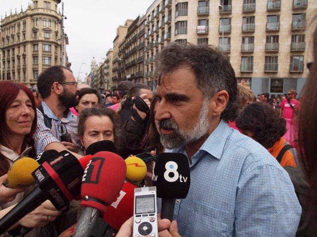 El president d'Òmnium Cultural, Jordi Cuixart