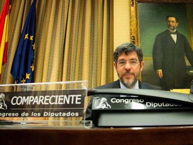El secretario de Estado de Presupuestos y Gastos, Alberto Nadal, en el Congreso
