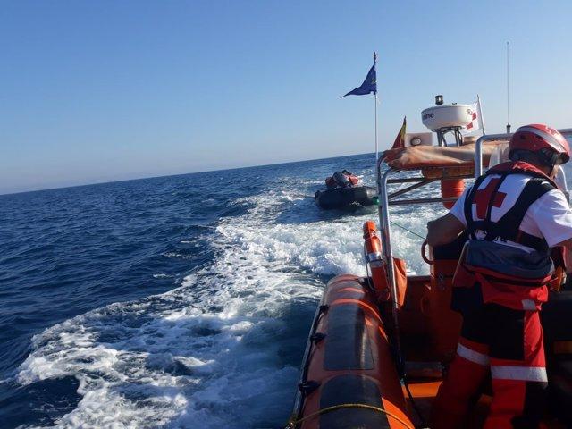 Pastera enfront de les costes de Torrevieja