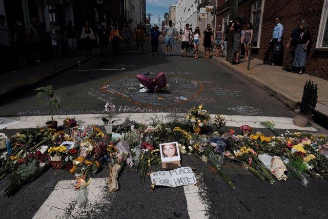 Homenaje a Heather Heyer en Charlottesville