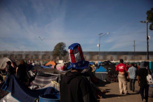 Caravana de migrantes en Tijuana (México)