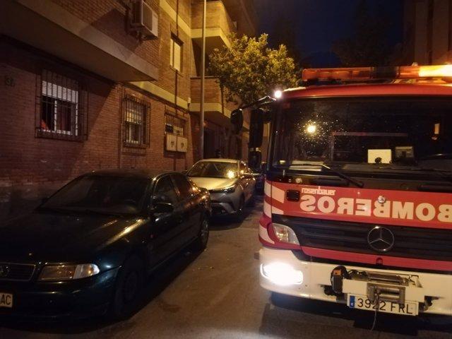 Intervención en el incendio de una vivienda