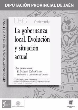 Cartel conferencia La gobernanza local