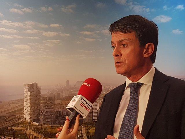 Manuel Valls en una entrevista d'Europa Press
