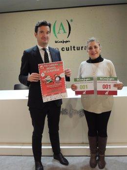 Miguel Bados y Elena Acaz presentan la Carrera Infantil de la Navidad.