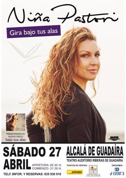 Niña Pastori actuará en abril en el Teatro Auditorio de Alcalá de Guadaíra (Sevilla)