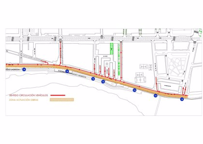 Comienzan el martes los trabajos para la fase 2 del carril bici en la avenida Fernández Ladreda de Cádiz