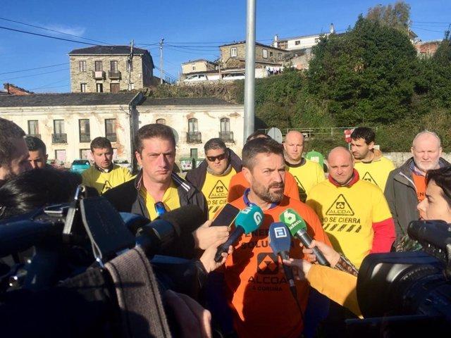 Rueda de prensa sobre Alcoa