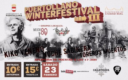 Kiko Veneno, Toreros Muertos y Noche Sabinera, en el 'Puertollano Winter Festival'
