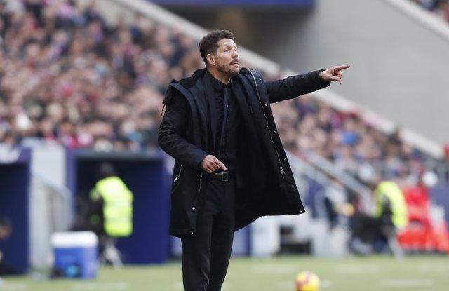 El técnico del Atlético de Madrid, Diego Pablo Simeone