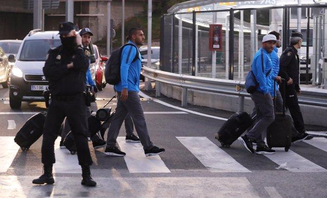 Boca Juniors llega a Madrid entre fuertes medidas de seguridad