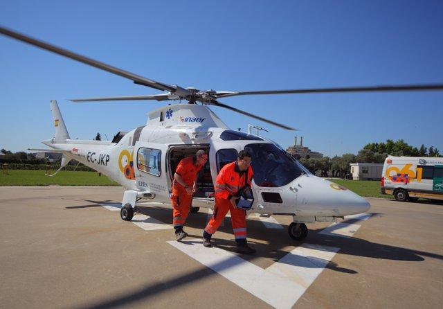 Helicóptero del 061 en una imagen de archivo
