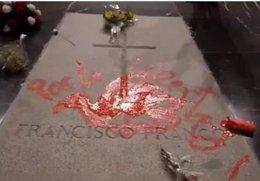 Obra de Enrique Tenreiro sobre a tumba de Franco