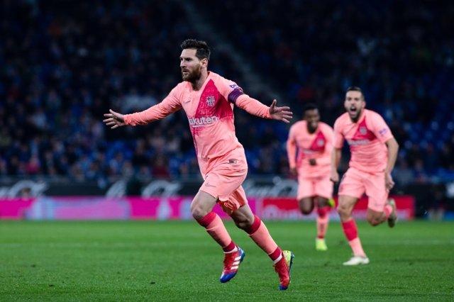 Leo Messi con el FC Barcelona