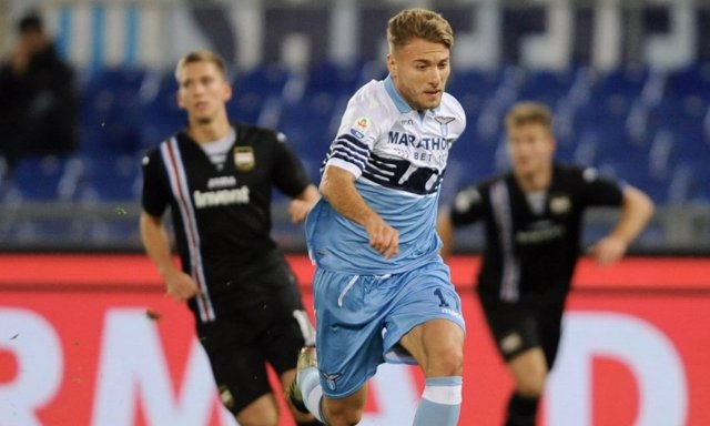 Ciro Immobile, en un partido con la Lazio