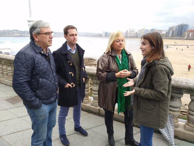 La vicesecretaria de Estudios y Programas del PP, Andrea Levy, en Gijón