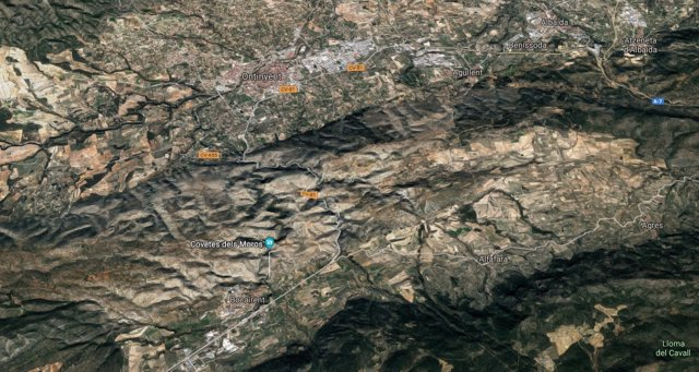 Localización de Ontinyent y Bocairent