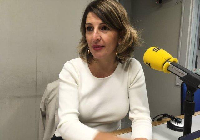 Yolanda Díaz, en entrevista en Radio Galicia Cadena Ser