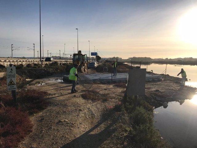Obras en río Arillo