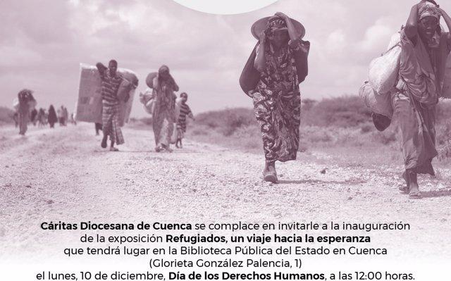 Cáritas Cuenca conmemora el Día de los Derechos Humanos con la exposición 'Refugiados, un viaje hacia la esperanza'