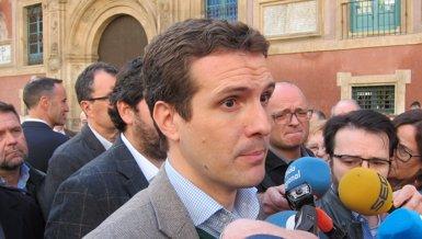 """Casado reclama al Govern espanyol l'aplicació """"immediata"""" del 155 a Catalunya (Europa Press)"""