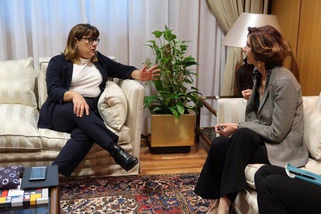 Bel Busquets y Bel Oliver reunidas en el Ministerio de Turismo